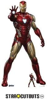 STAR CUTOUTS SC1314 Marvel Iron Man Robert Downey Jr 185cm Tall Avengers Endgame Lifesize Cardboard Free Desktop Figure, Multicolour