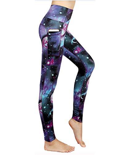 Die Gamaschen der Frauen hohe Taillen-Yoga-Hosen mit Taschen, Bauch-Kontrolltraining, das Turnhallen-Pilates-Ausdehnungs-Hosen Laufen lässt-C-L