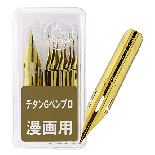Zebra Comic Pen Nib- Type Professional - G Model - Titanium - Pack of 10 (PG-7B-C-K)
