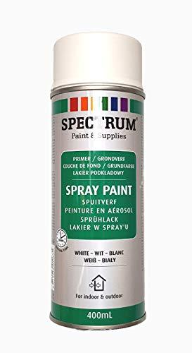 Grundierung Lackspray Sprühlack Lackfarbe Acryllack 400 ml weiss