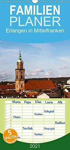 Erlangen in Mittelfranken - Familienplaner hoch (Wandkalender 2021, 21 cm x 45 cm, hoch)