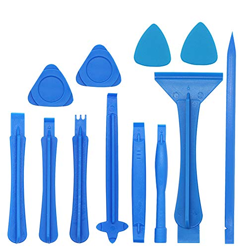 Hovico 12Pcs Phone Screen Opening Pry Plastic Tool Repair Kit,Spudger Pry Blade Opening Tool Repair Kit for Electronics Tool