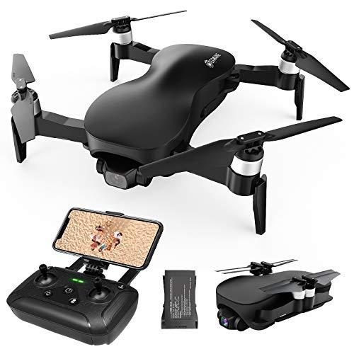 EACHINE EX4 Drone 4K Telecamera Brushless 5G WiFi GPS Pieghevole Gimbal 3 Assi FPV Distanza 1km (Nero)