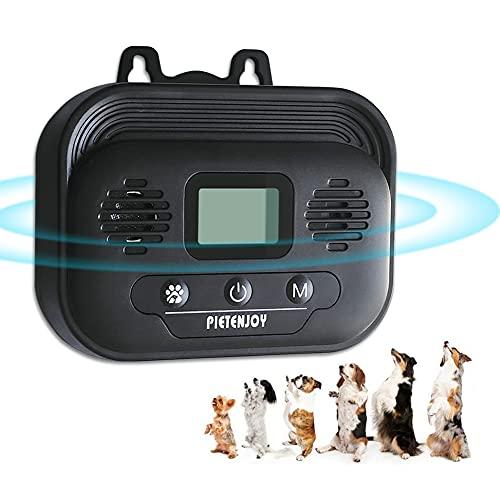 Ultrasuoni Dispositivo di Controllo Anti-Abbaiamento per Cani, Automatico Impermeabile Dispositivo Anti-Abbaiamento per Addestramento Sicuro e Umano per Uso Esterno