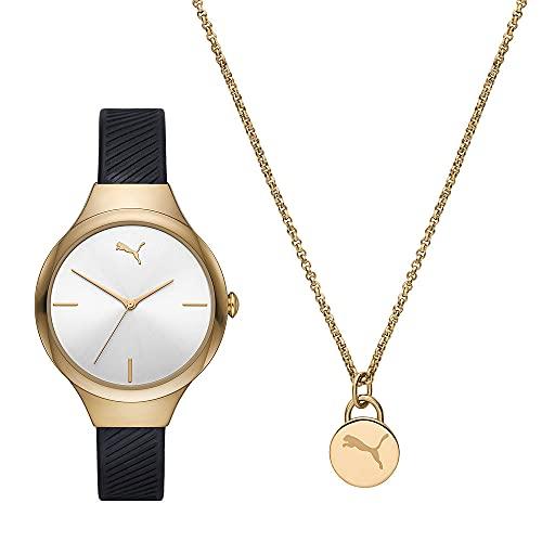PUMA Damen Contour Three-Hand, Gold Alloy Uhr, P1052