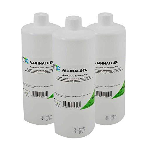 3x 1000 ml MC24® Vaginal Kontaktgel Ultraschallgel Gleitgel Untersuchungsgel Gynäkologie Übertragungsgel Gel