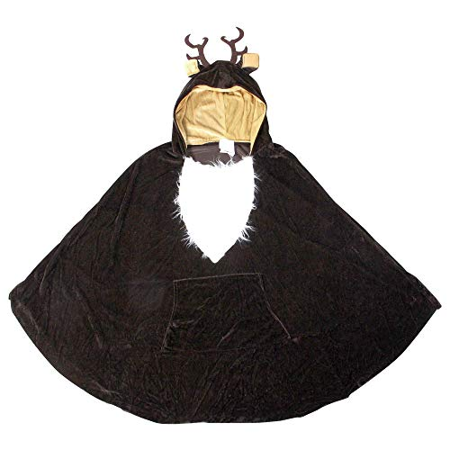 Fun World Women's Reindeer Poncho Adult Costume, Multi, Standard