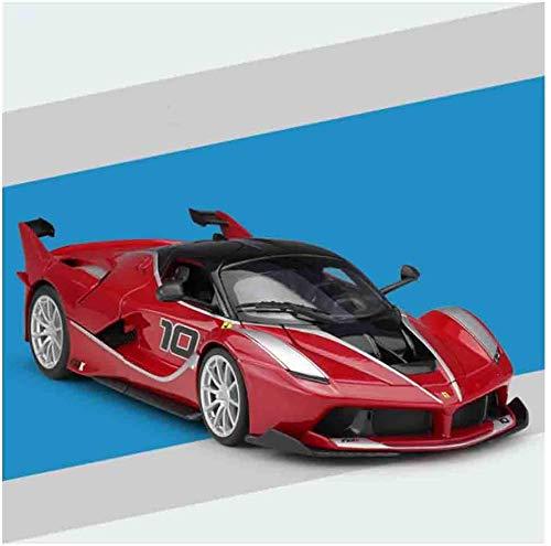 YZHM Ferrari Fxxk Tire de la máquina Diecast 1,18 Puertas de Juguetes de aleación y Tapas de vehículos móviles adecuados para la colección Masculina para los Amantes de los Hombres, Amarillo,Rojo