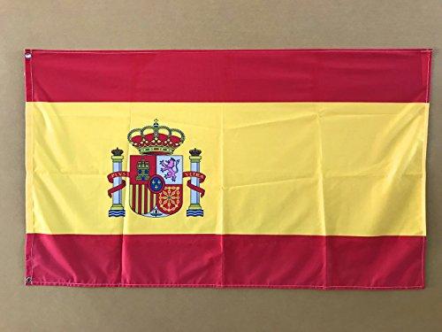 Oedim Bandera de España 85x1,50cm | Reforzada y con Pespuntes | Bandera de España con 2 Ojales Metálicos y Resistente al Agua