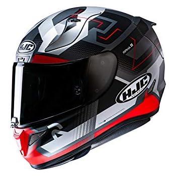XS Nero//Bianco//Rosso Casco moto HJC RPHA 11 SCONA MC1