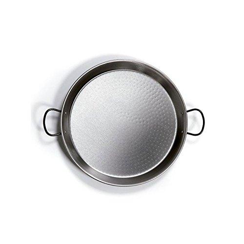 Vetrineinrete® Padella per Paella Ø 42 cm in Lega di Acciaio Lucido paellera da Cucina con 2 Manici B26