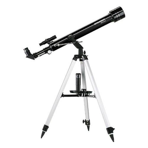 Bresser Teleskop Arcturus 60/700 Einsteigerteleskop mit Stativ und reichlich Zubehör mit praktischem Koffer für den Transport