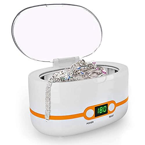 Ultraschallreiniger, Ultraschallreinigungsgerät 600ml, Digital Ultrasonic Cleaner Reiniger mit Digitalanzeige und 5 Zeiteinstellungen, 50W 42000 Hz, mit Reinigungskorb Ulrtaschallbad