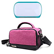WOOACME Portable Tote Bag Compatible with Cricut Joy, Carrying Case with Accessories Storage for Cricut Joy (Pink, Tote)