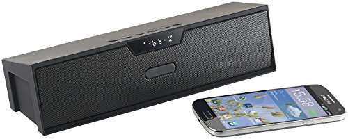 auvisio Box, Bluetooth: Stereo-Lautsprecher, Bluetooth, Freisprecher, MP3, Radio, Wecker, 20 W (Soundstation)