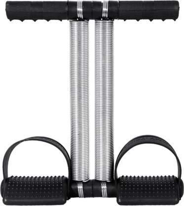 HUSB® Double Spring Tummy Trimmer Pro Waist Trimmer Abs Exerciser Body Toner Fat Buster Home Gym Abdominal Exercise Fitness Equipment Leg Exerciser for Men and Women (Red,Black) (Double Spring)
