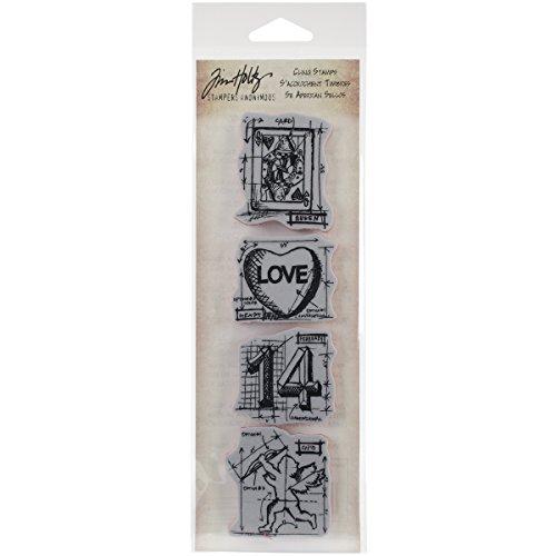 Stempel Anonymous Tim Holtz CMS154 Mini ontwerp strepen strepen zelf rubber postzegels 3 inch x 25,4 cm, Valentine