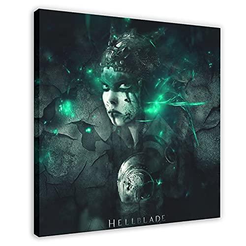 Hellblade Senua's Sacrifice Game Tela Poster Camera da Letto Decor Sport Paesaggio Ufficio Decorazione Camera Regalo Cornice 70 × 70 cm