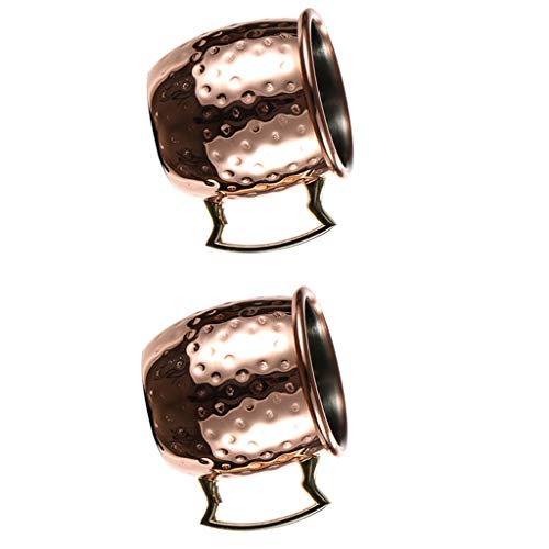 MagiDeal 2 Pcs Hammered Moscow Shots Mug 60ml Stainless Steel Cocktail Cup Barware