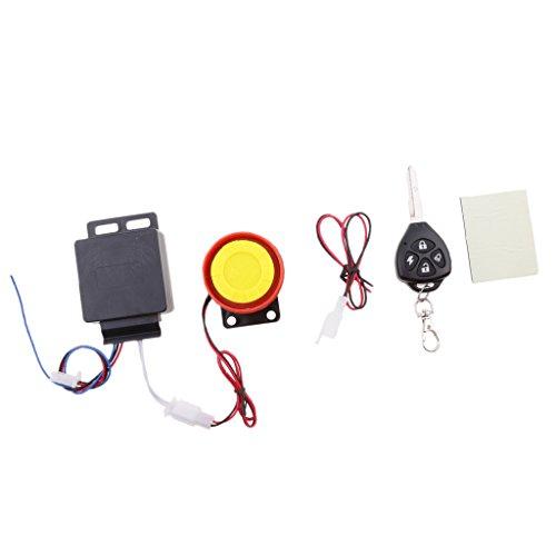 Gazechimp Sonido de Alarma de Motocicleta Vibración Antirrobo Seguridad con Control Remoto