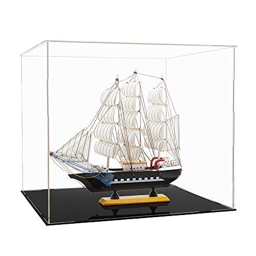 Tingacraft Acryl Vitrine 400 x 365 x 350 mm für Piratenschiff / Hubschrauber, Selbstmontage