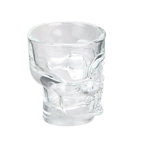 THE MASON JAR FACTORY CMKA2571 Set 4 VASOS 30 ML Calavera, Glas, Transparent, Einheitsgröße