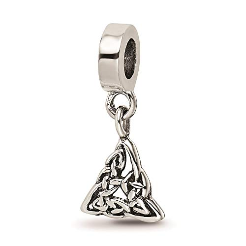 925 Sterling Silver Charm For Bracelet Irish Claddagh Celtic Knot Trinity Dangle Bead Good Luck Fine Jewelry For Women Gifts For Her