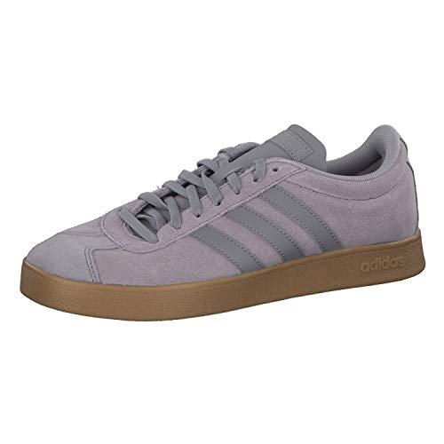 adidas Herren VL Court 2.0 Skateboardschuhe, Blau (Trablu/Lgrani/Gum4 Trablu/Lgrani/Gum4), 46 EU