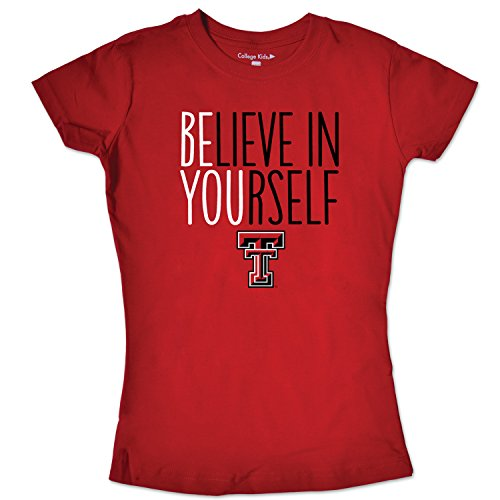 NCAA Texas Tech Red Raiders Girls Short Sleeve Tee, Size 14-16/Large, Red