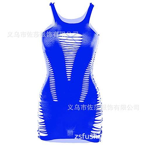 Erotische Nachthemden für Frauen Erotische Dessous-Sets für Frauen Sexy Dessous Schultergurt Princess Bag Hüftnetz Rock-Royal Blue One Size [Taschenbuch]