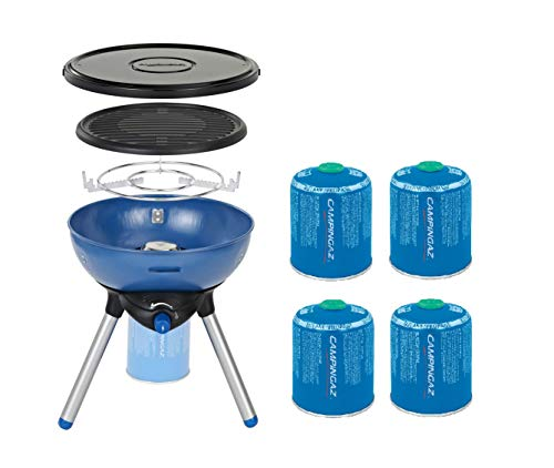 Campingaz Party Grill 200 Gas Stove + Free CV470 Plus Gas Cartridge 4 Pack