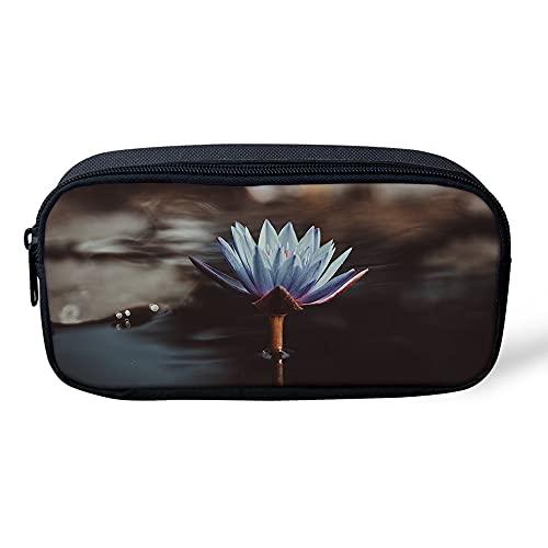 VJSDIUD Estuche de gran capacidad de almacenamiento único floral con compartimentos bolsa de papelería, organizador de bolígrafos, estuche de cosméticos duradero para mujeres y niñas