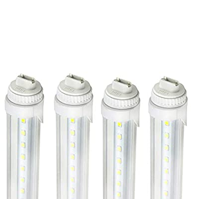 R17D 40W 8Ft LED Tube,F96T12/CW/HO LED Fluorescent Tube Replacement,120V-277V Input,4000LM Super Bright Clear Lens
