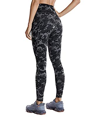 CRZ YOGA Women's High Waisted Yoga Pants with Pockets Naked Feeling Workout Leggings-25 Inches Camo Multi 1 25'' Small