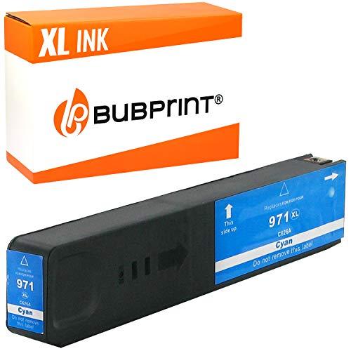 Bubprint Druckerpatrone kompatibel für HP 971XL für OfficeJet Pro X451dn X451dw X476dn X476dw X551dw X576dw X450 X470 CN626AE Cyan