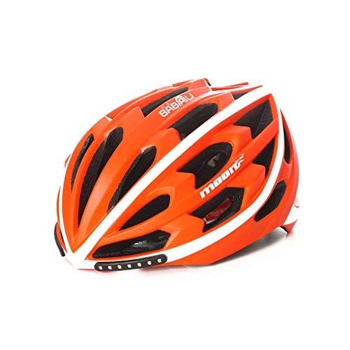 ZGYQGOO Casco Bicicleta Casco Bicicleta montaña Inteligente con luz Seguridad señal Giro...