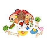 ewtshop Bauernhof Farmerset für Kinder aus massivem Holz, bemalt zum Spielen