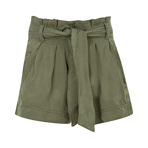 Paperbag Short en denim pour fille avec ceinture en papier pour fille Taille haute Taille haute - - 13-14 ans