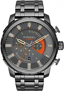 Diesel Men's Dark Grey Dial Stainless Steel Band Watch - DI-DZ4348