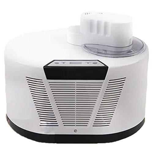 Pequeña máquina de helados, helado automático para el hogar, se utiliza para hacer helados de fruta, sorbete, yogur congelado, adecuado para uso doméstico, helado (plata-blanco) wmpa ( Color : White )