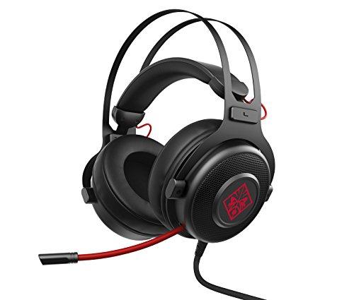 HP OMEN 800 Headset, Audífonos, Gaming, PC Gamer, Negro/Rojo