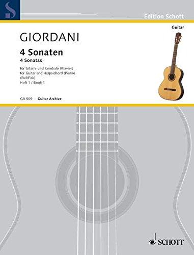 4 Sonaten: Sonaten a-Moll und c-Moll. Vol. 1. Gitarre und Cembalo (Klavier). (Edition Schott)