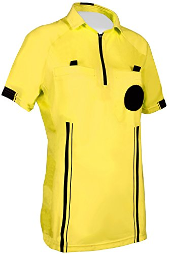 New! Women's 2018 Soccer Referee Jersey (Yellow, XS (Chest: 32-34'))