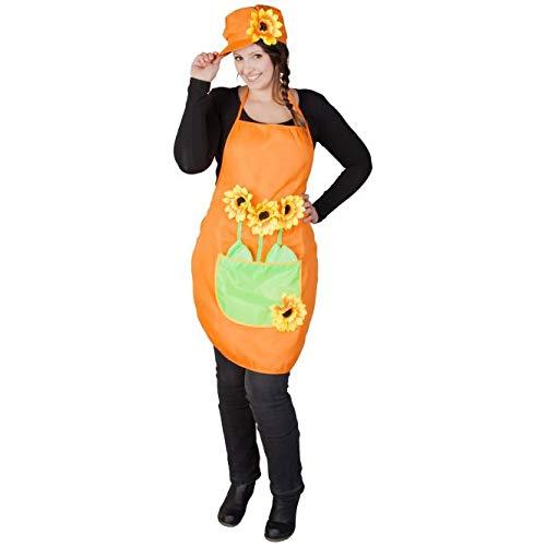 mica Festival Kostüm - Gärtner - für Erwachsene - 2-teilig - orange