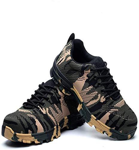LBHH Zapatos de Trabajo Botas de Seguridad Zapatos de Seguridad Zapatos de construcción Calzado de Seguridad para Hombre,Calzado de Seguridad Anti-Rotura y Anti-Perforaciones,Trabajo Casual y