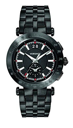 Versace Herren Analog Quarz Uhr mit Edelstahl Armband VAH040016