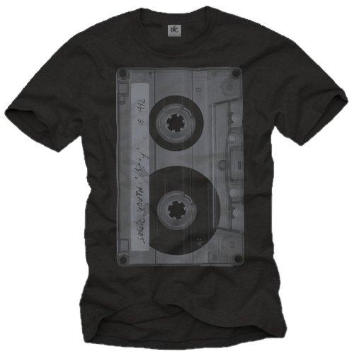 Camiseta Musica Hombre - Caseta - Negro XXXL