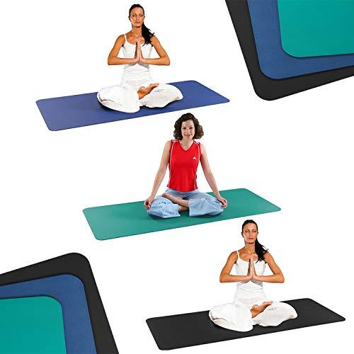 Sport-Thieme Yogamatte | Latexfreie, Schadstofffreie Yoga-Matte aus Polyvinylschaum | rutschfest, Hygienisch, Isolierend | 185x70x0,6 cm, 1,8 kg | In DREI Farben | Markenqualität