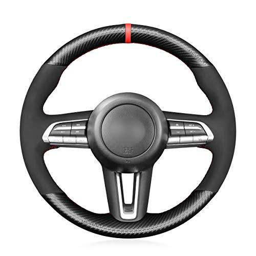 MEWANT Funda para volante para Mazda CX-30 CX30 2019-2020 / Mazda 3 Axela 2019-2020 / Accesorios para volante para Mazda CX30 / Mazda 3 Axela
