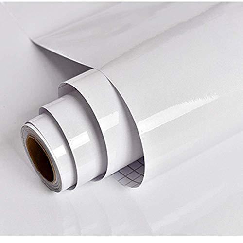 Carta Adesiva per Mobili Luccichio Bianca 30cmX3m Impermeabile Carta da Parati PVC Pellicola Adesiva per mobile Rinnovato da Cucina Muro Armadio Bagno Camera